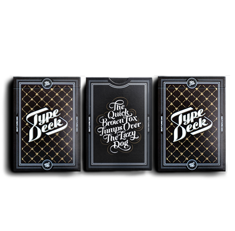 THE TYPE DECK – 3 PACKS